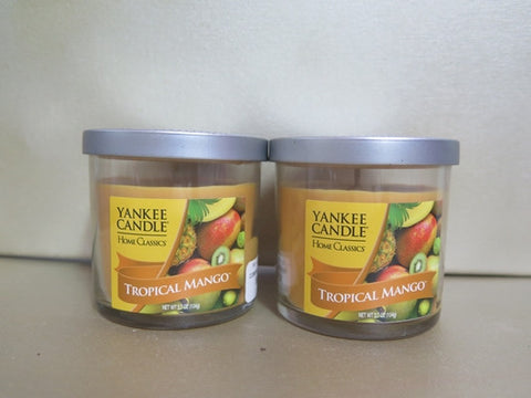 Yankee Candle Tropical Mango Candle Set of 2 at 3.7 oz. each
