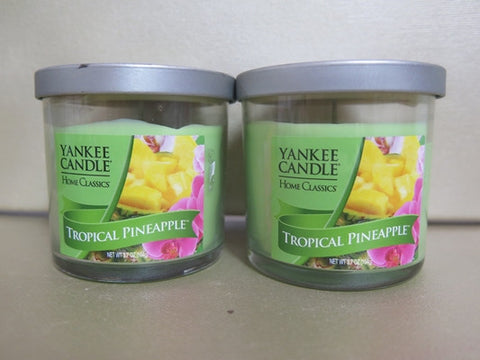 Yankee Candle Tropical Pineapple Candle Set of 2 at 3.7 oz. each