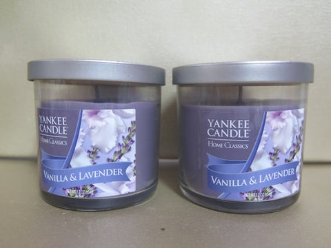 Yankee Candle Vanilla & Lavender Candle Set of 2 at 3.7 oz. each