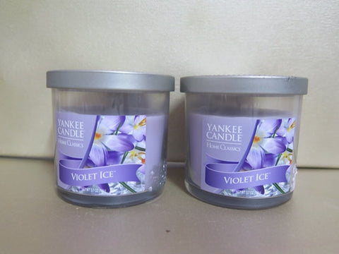 Yankee Candle Violet Ice Candle Set of 2 at 3.7 oz. each