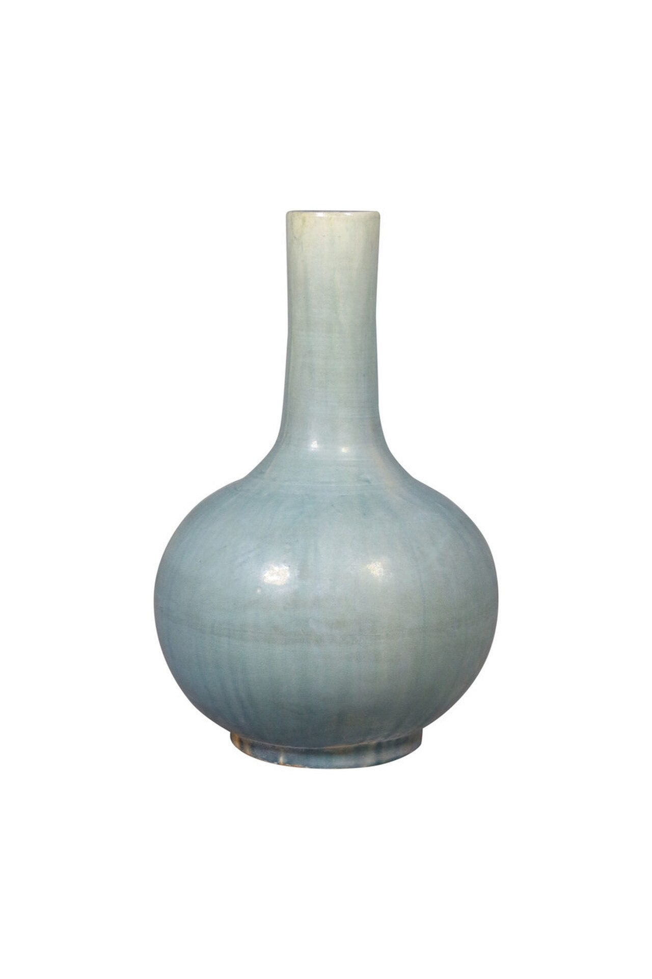Vintage Green Ceramic Globular Vase
