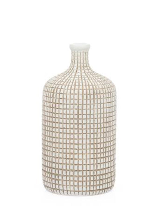 Etched Bottle Vase - Amy Berry Home