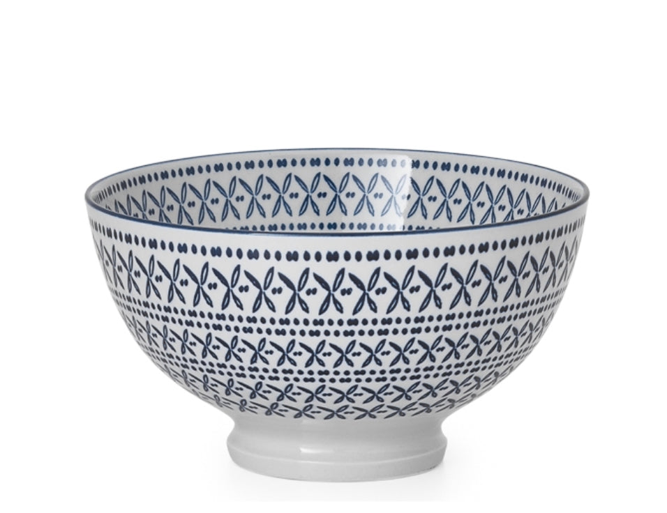 Blue Stitch Bowls - Amy Berry Home