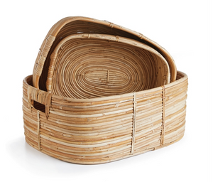 Cane Rattan Rectangular Baskets - Amy Berry Home