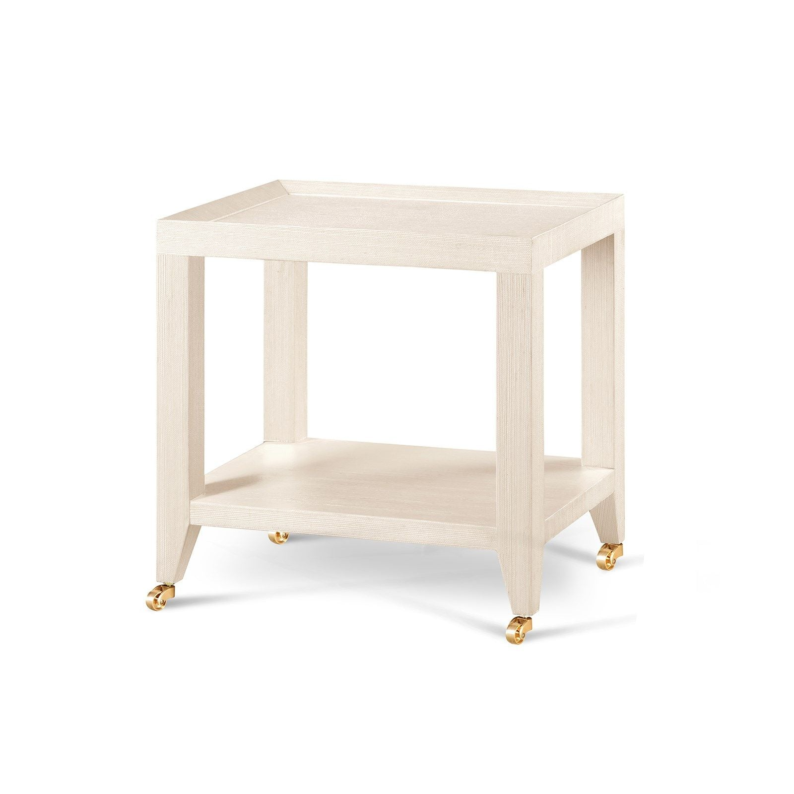 Grasscloth Tea Table - Amy Berry Home