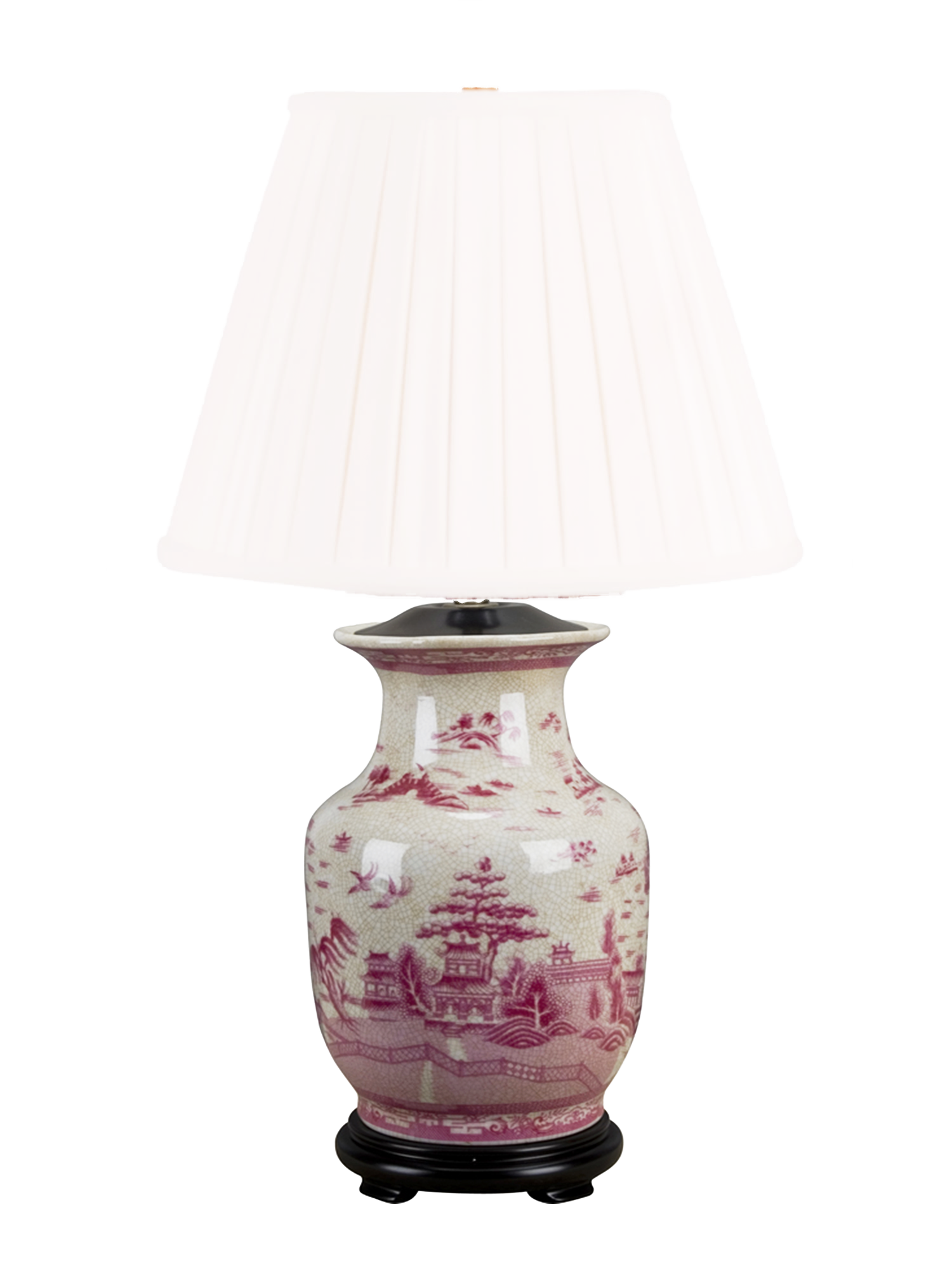 Pink and White Canton Lamp - Amy Berry Home