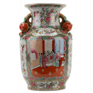 Handled Rose Medallion Vase - Amy Berry Home