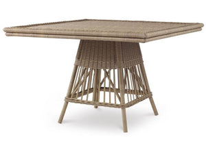 Wicker Square Dining Table