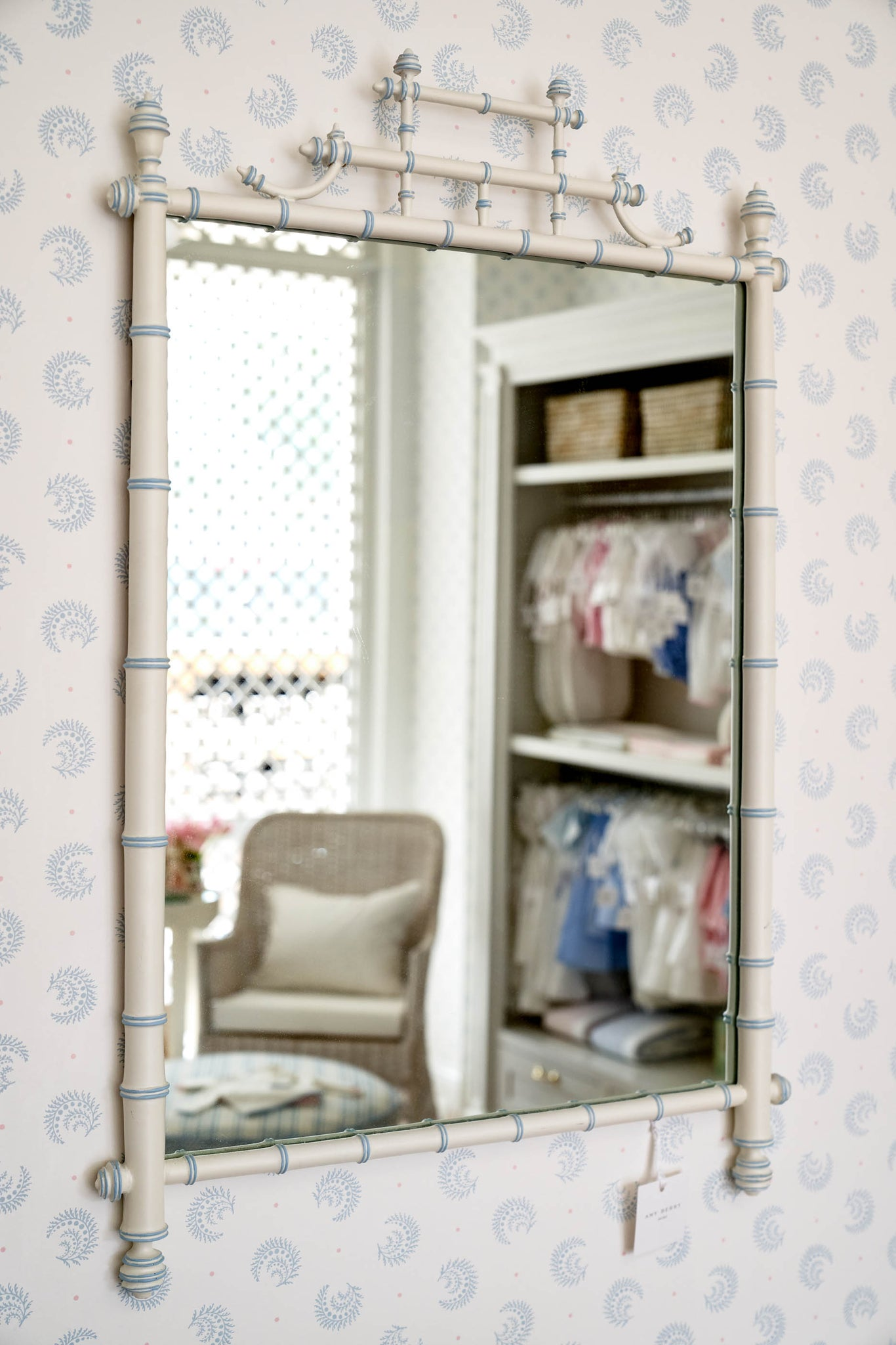 White Bamboo Mirror - Amy Berry Home