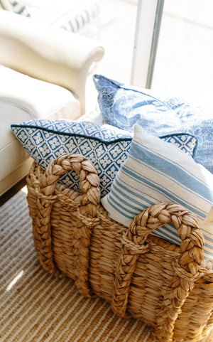 Rectangular Rush Basket - Amy Berry Home