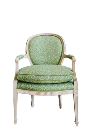 Louis XVI Green Chair - Amy Berry Home
