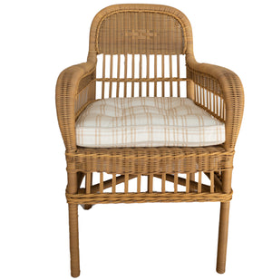 Natural Beige Wicker Arm Chair - Amy Berry Home