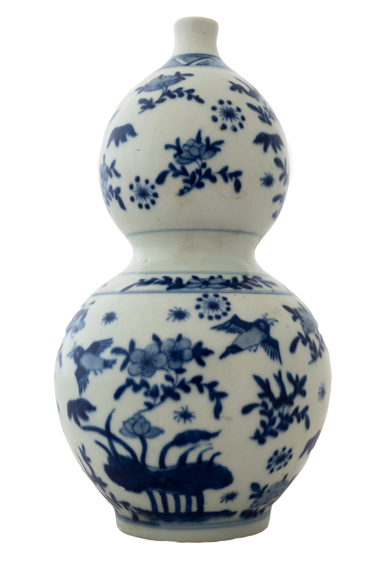 Blue And White Double Gourd Vase - Amy Berry Home