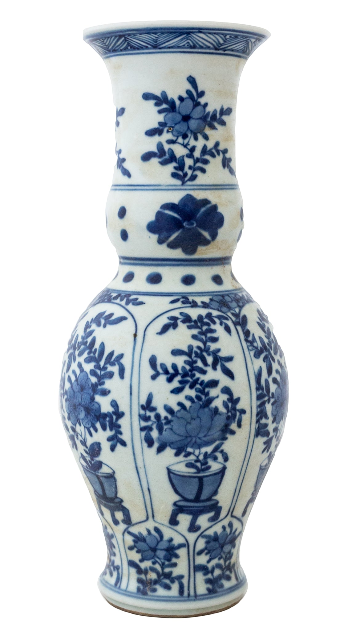 Blue And White Floral Vase - Amy Berry Home