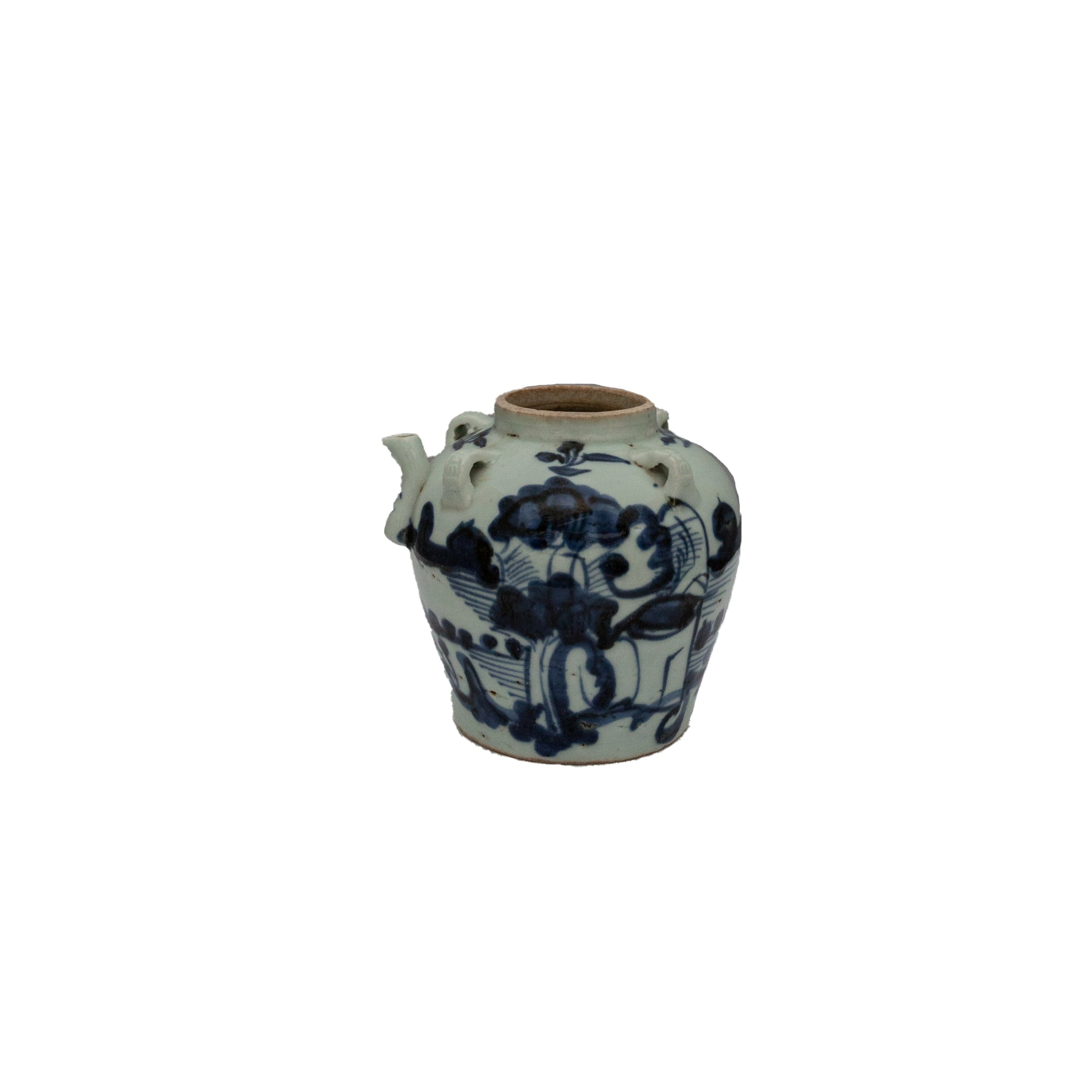 Blue and White Kettle Pot - Amy Berry Home