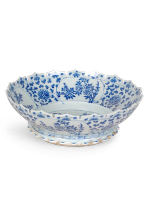 Blue & White Scallop Bowl - Amy Berry Home