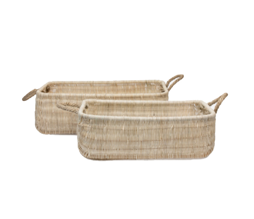 Beru Light Natural Woven Nesting Baskets