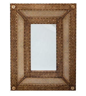 Inlay and Cane Mirror - Amy Berry Home