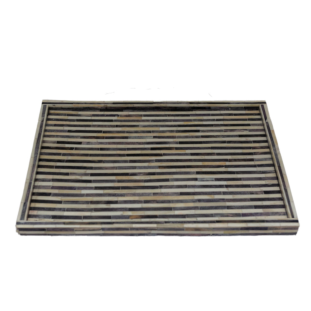 Black and White Striped Tray - Amy Berry Home