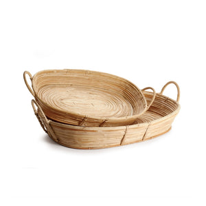 Cane Rattan Trays - Amy Berry Home