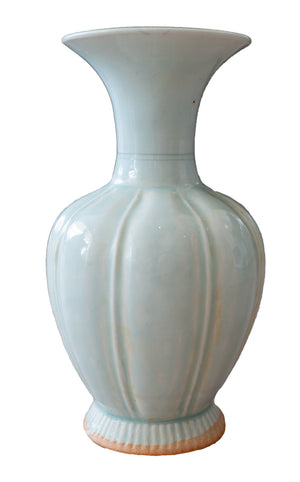 Celadon Fluted Balloon Vase - Amy Berry Home