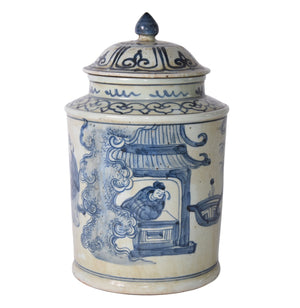 Chinoiserie Lidded Jar - Amy Berry Home