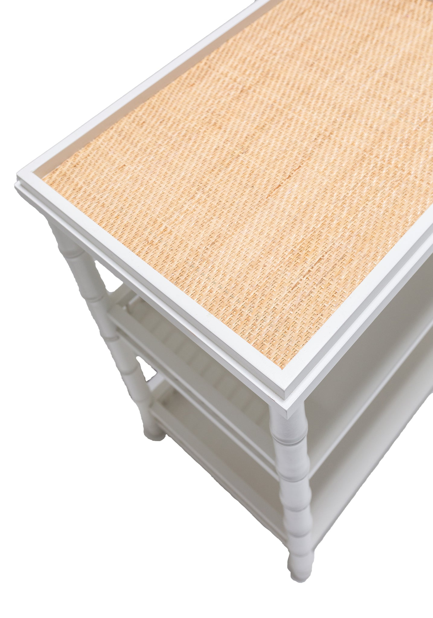Bamboo Side Table with Natural Raffia Top - Amy Berry Home