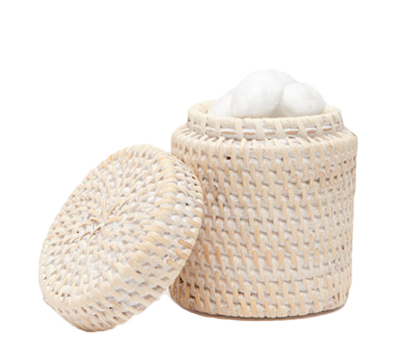 Rattan Lidded Cannister - Amy Berry Home