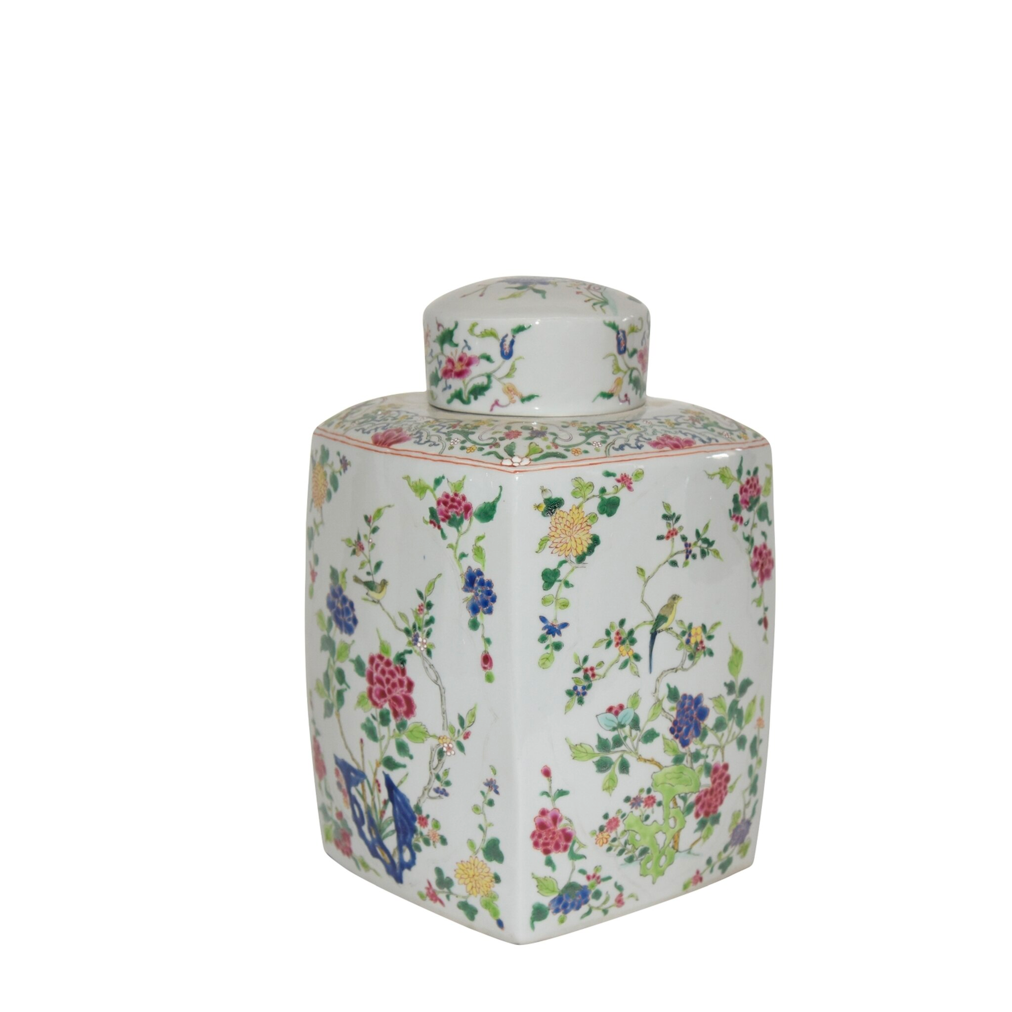 Floral Chinoisery Tea Jar - Amy Berry Home