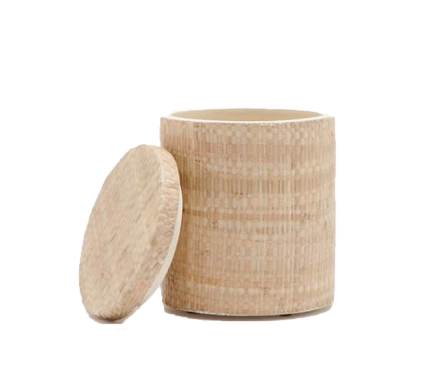 Raffia Canister