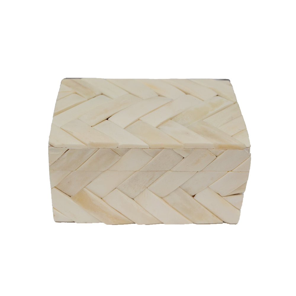 Chunky Herringbone Bone Box - Amy Berry Home