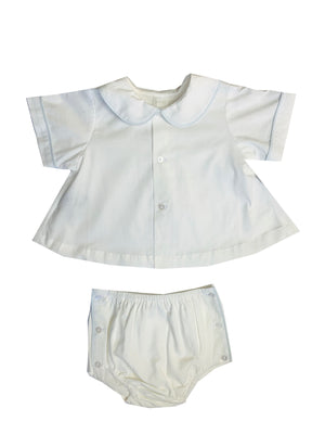 White and Blue Diaper Set - Amy Berry Home
