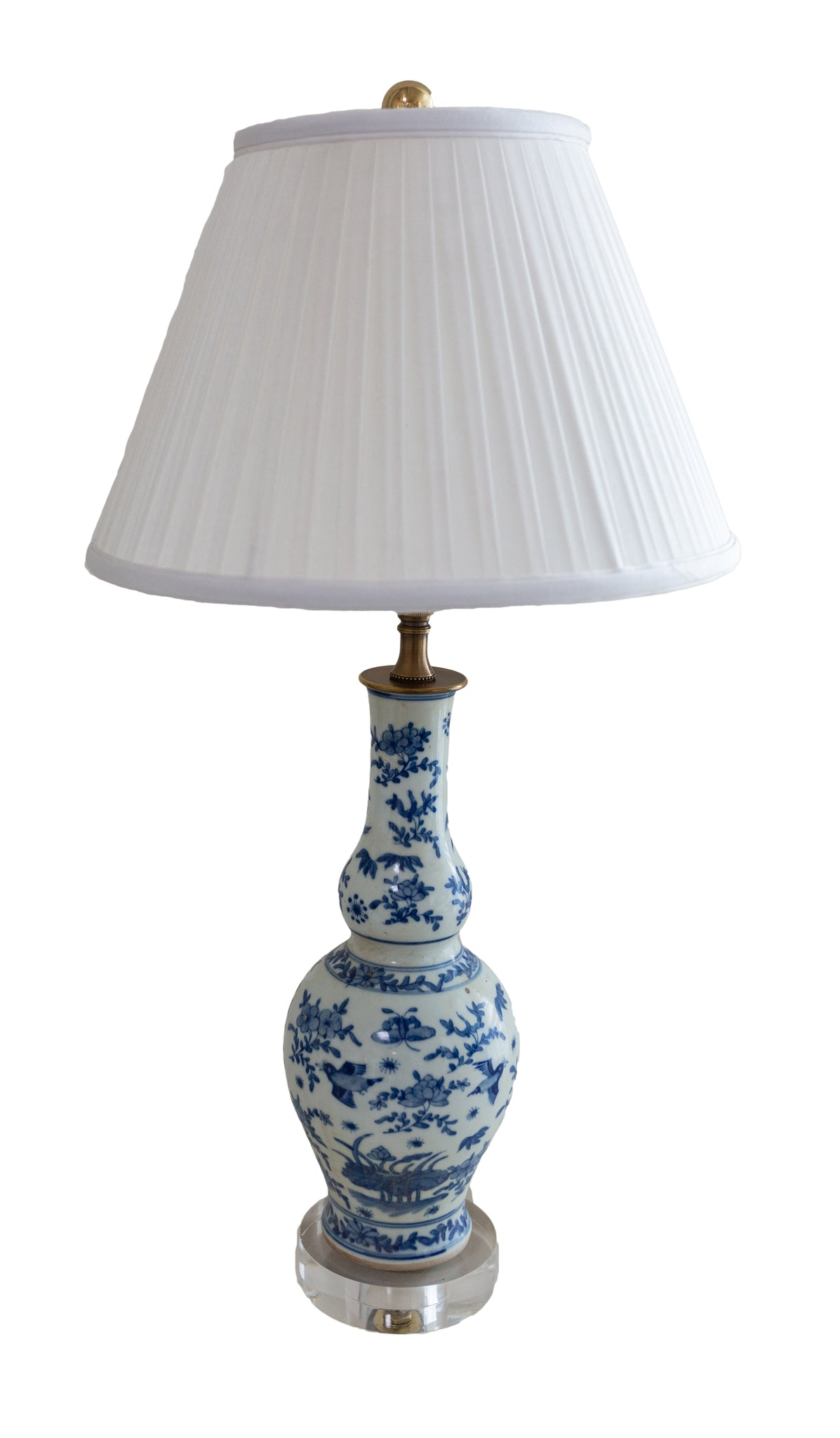 Sweet Bird Blue & White Lamp - Amy Berry Home