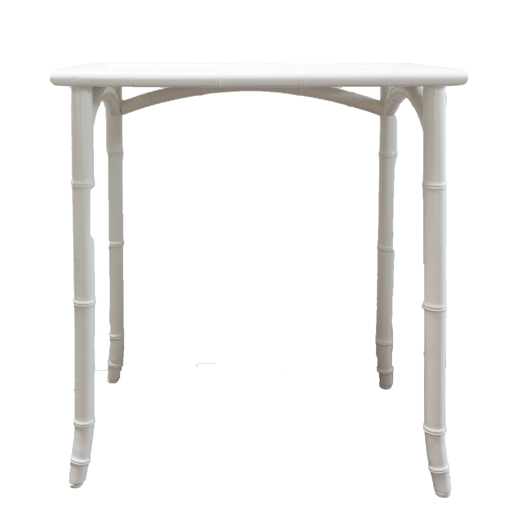 White Bamboo Nesting Tables - Amy Berry Home