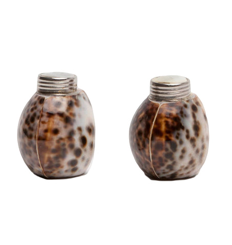 Nora Tiger Cowrie Salt and Pepper Shakers