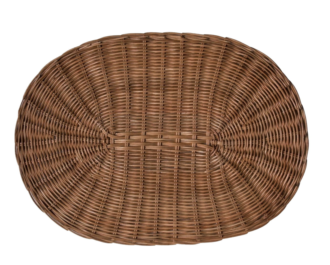 Tisbury Oval Honey Rattan Placemat - Amy Berry Home