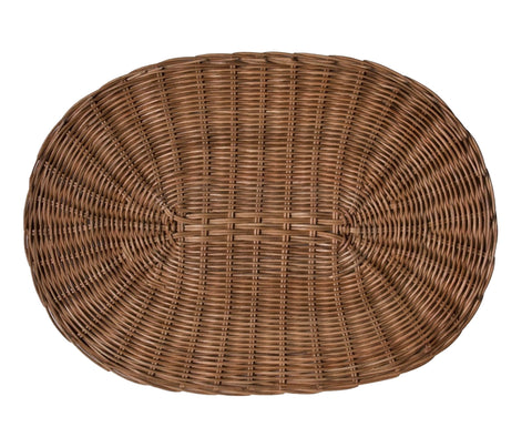 Tisbury Oval Honey Rattan Placemat