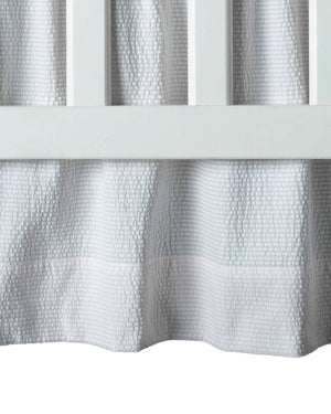 Seersucker Crib Skirt - Amy Berry Home