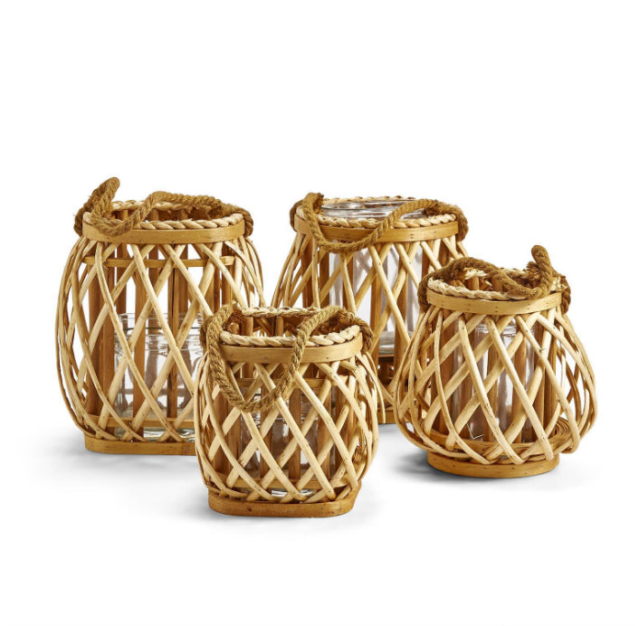 Rattan Rope Lanterns - Amy Berry Home