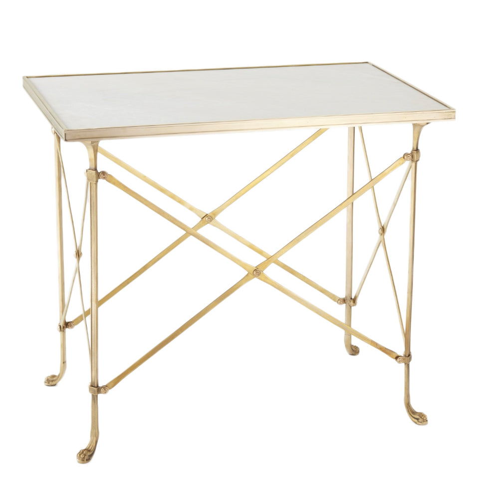 White Marble Top Rectangle Table