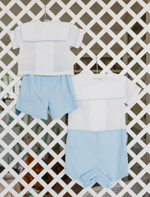 Two Piece Blue and White Set - Amy Berry Home