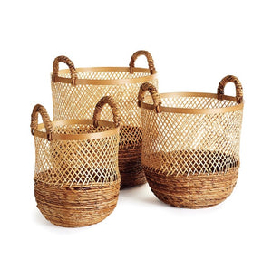 Round Open Wicker Basket - Amy Berry Home