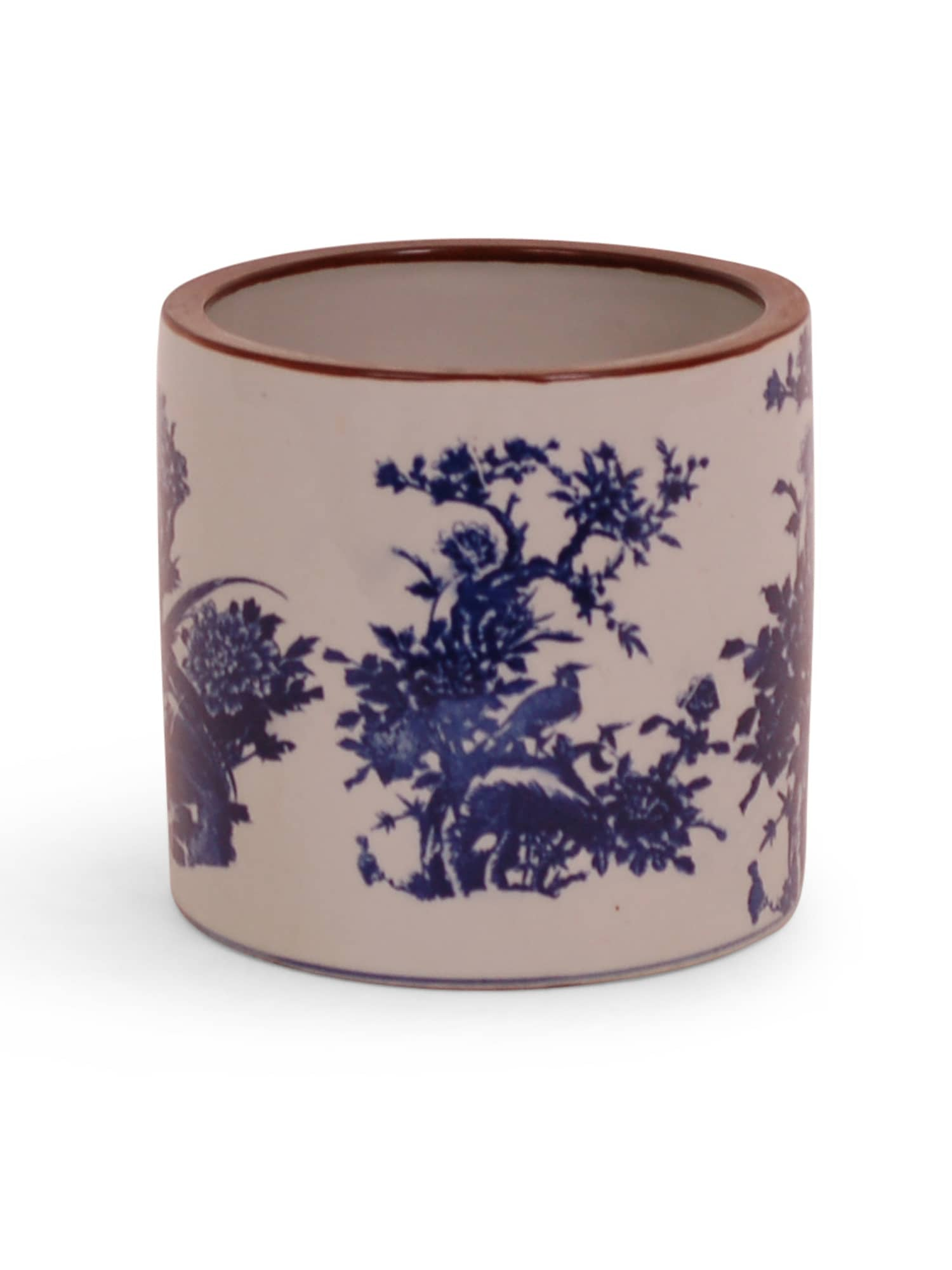 Saturated Chinoiserie Pot - Amy Berry Home