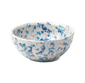 Sconset Mixed Blue Spongeware Cereal/Ice Cream Bowl