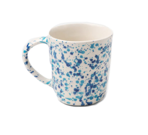 Sconset Mixed Blue Spongeware Mug