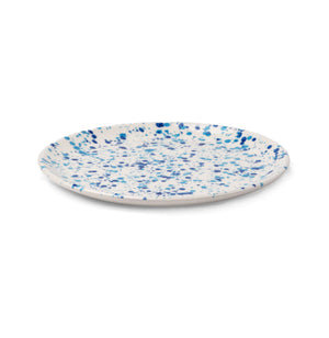 Sconset Mixed Blue Spongeware Salad/Dessert Plate