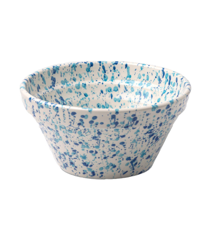 Sconset Mixed Blue Spongeware Serving Bowl - Amy Berry Home