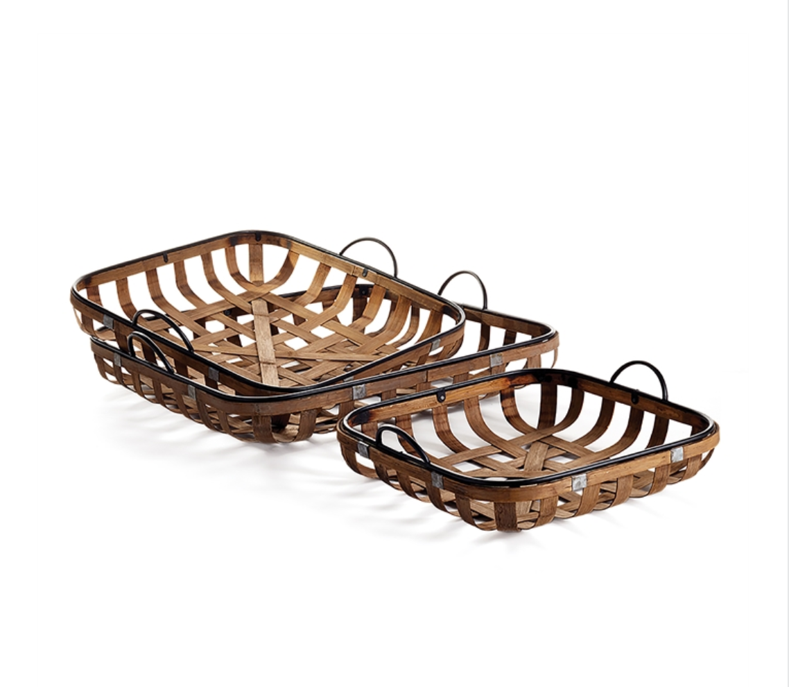 Riverbend Low Baskets - Amy Berry Home