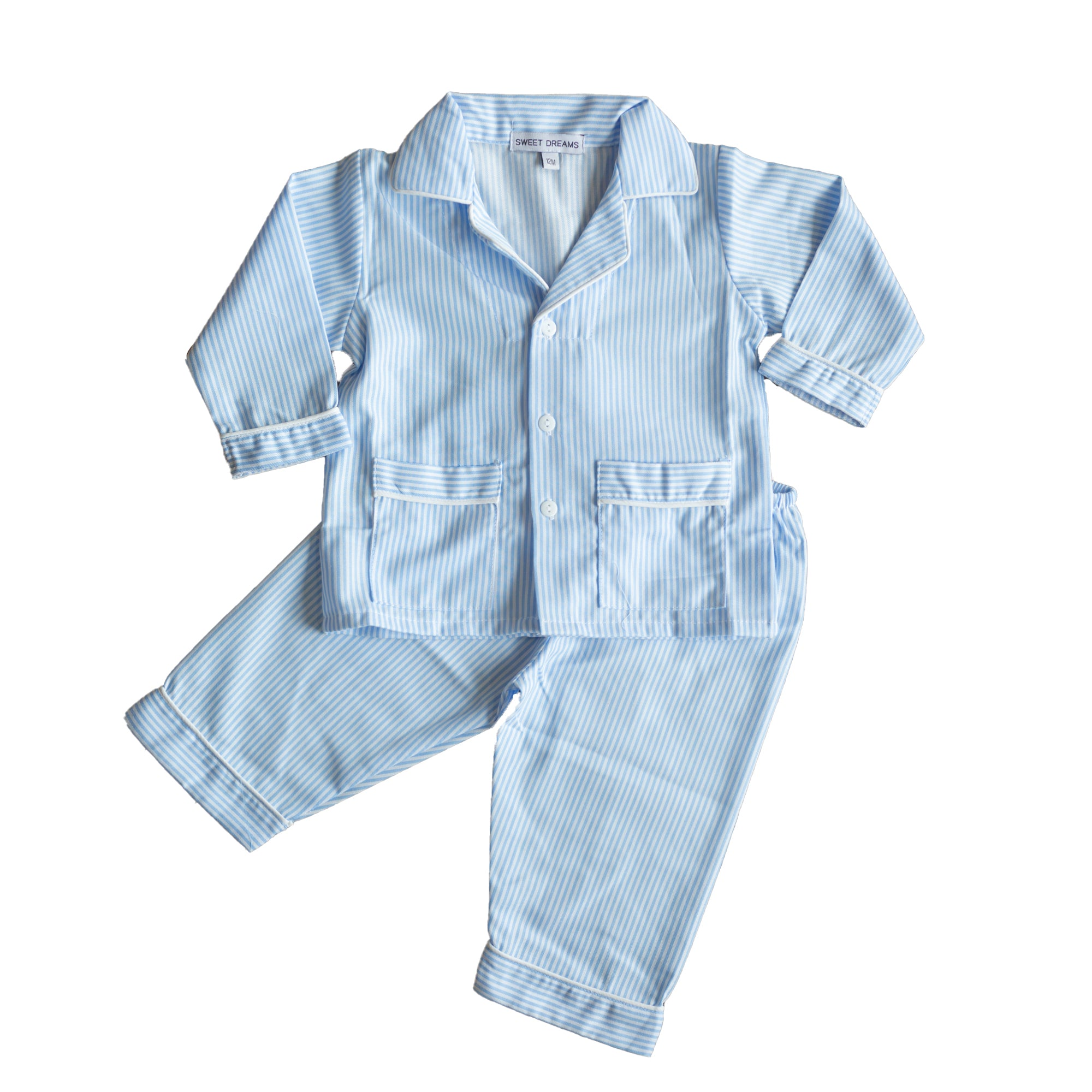 Blue Stripe PJs - Amy Berry Home