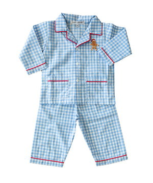 Gingham Gingerbread Man Pajamas - Amy Berry Home